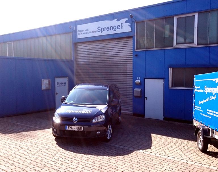 Werkshalle der Sprengel GmbH, Werkzeugschleiferei